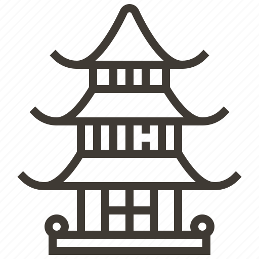 building, japan, landmark, pagoda icon