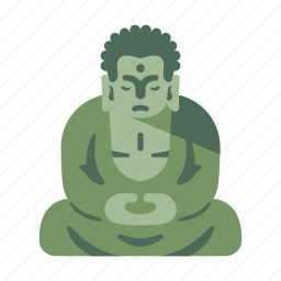 buddha, buddhism, great buddha, japan, landmark, temple, travel icon