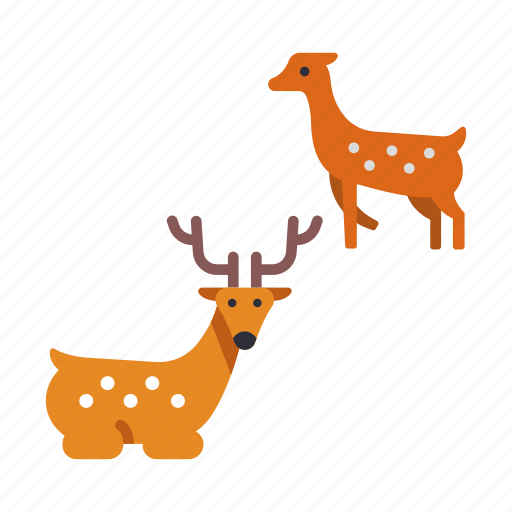 animal, deer, famous, japan, japanese deer, nara, wildlife icon