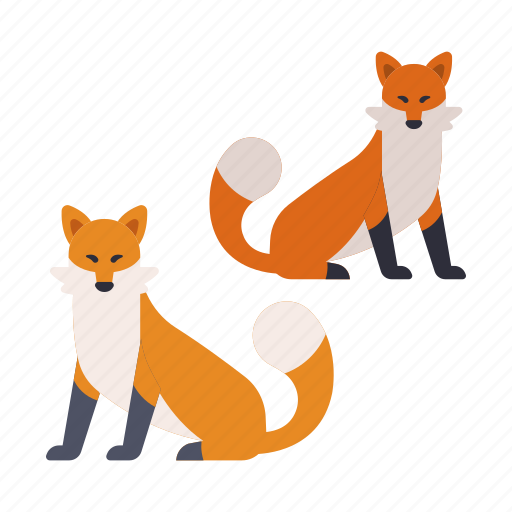 animal, fox, japanese, japanese fox, nature, tail, wildlife icon