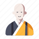 asian, buddhist, character, japanese, japanese monk, monk, religion