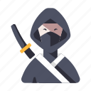 assassin, character, japan, japanese, mask, ninja, warrior icon
