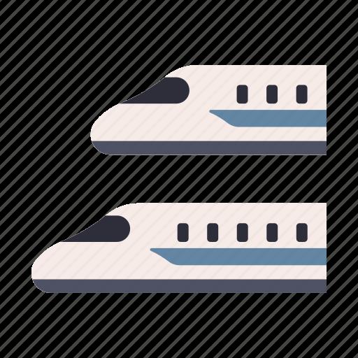 bullet, express, japan, shinkansen, train, transportation, travel icon