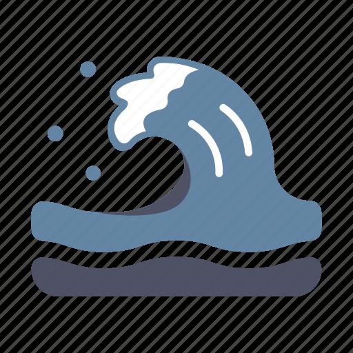catastrophe, flowing, sea, surfing, tide, tsunami, wave icon