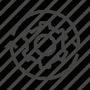 development, methodology, repeat, sustain, 5s icon