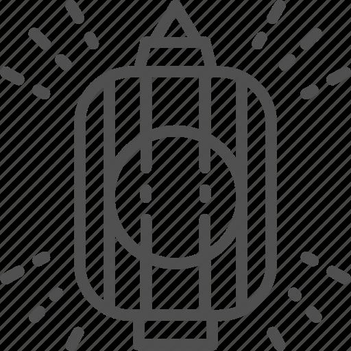 Japan, japanese, lamp, lantern, line, traditional icon - Download on Iconfinder