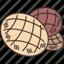 melonpan, sweet, bun, bakery, pastry
