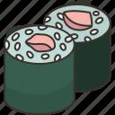 norimaki, seaweed, roll, japanese, cuisine