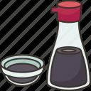 soy, sauce, salty, shoyu, bottle