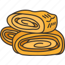 tamagoyaki, sweet, omelet, roll, food