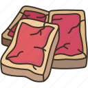 tataki, fillet, beef, sashimi, dinner