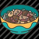 teriyaki, bowl, grilled, meat, rice