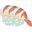 ebi, nigiri, shrimp, cuisine, restaurant