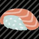 sake, nigiri, salmon, sashimi, dish