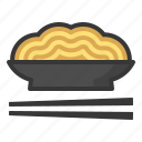 food, japan, line, noodle, soba, yakisoba icon