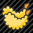 food, fried, japan, line, menu, tempura icon