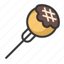 food, japan, line, tako, takoyaki icon