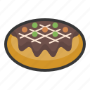 food, japan, line, menu, okonomiyaki, pizza icon