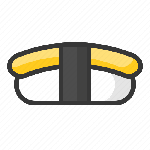 Food, japan, line, egg, rice, sushi, tamagoyaki icon - Download on Iconfinder