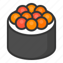 california maki, food, japan, line, maki, roll, sushi icon