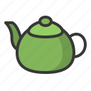 food, japan, line, teapot icon
