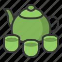 food, japan, line, tea, tea cup, teapot