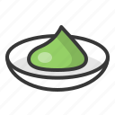 food, japan, line, seasoning, wasabi icon