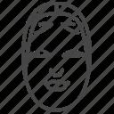 ghost, japan, japanese, mask, noh, yokai, zo onna icon