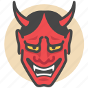 ghost, oni, hannya, mask, japanese, yokai, demon