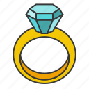 accessory, diamond, fashion, gemstone, jewelry, ring icon