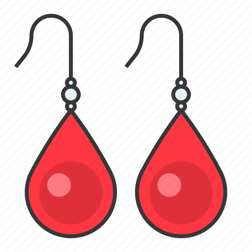 Accessory, earring, fashion, gemstone, jewelry, ruby icon - Download on Iconfinder