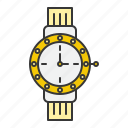 accessory, fashion, jewelry, time, watch icon
