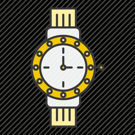 accessory, fashion, jewelry, time, watch icon