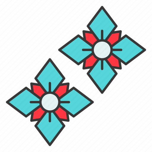 Accessory, earring, fashion, floral, gemstone, jewelry icon - Download on Iconfinder