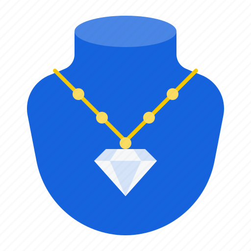 accessory, diamond, fashion, gemstone, jewelry, necklace icon