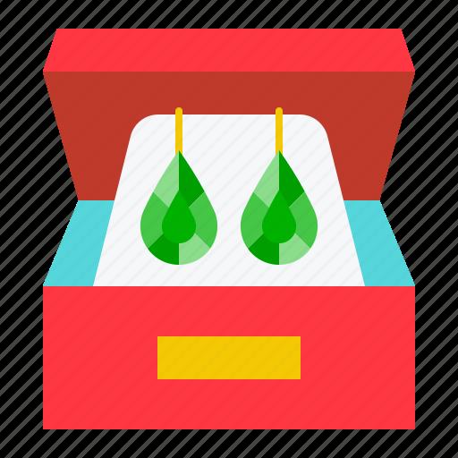 accessory, earring, fashion, gemstone, jewelry icon