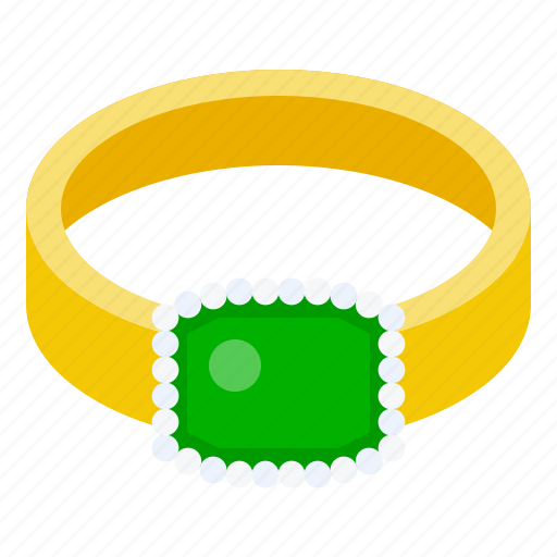 accessory, emerald, fashion, gemstone, jade, jewelry, ring icon