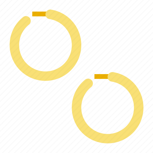 Accessory, earring, fashion, gold, huggie earring, jewelry icon - Download on Iconfinder