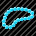 beads, gem, jewel, jewelry icon
