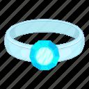blue, diamond, jewelry, ring icon