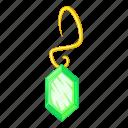 earring, green, jewel, jewelry icon