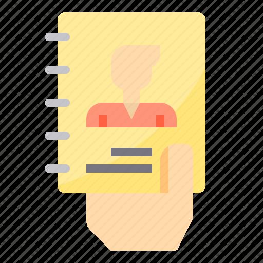 business, human, management, paper, portfolio, resources icon