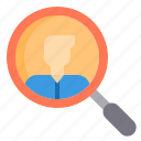 human, job, resource, search icon