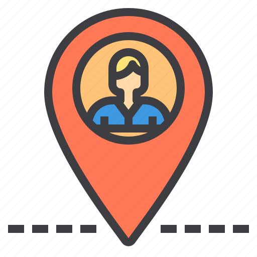 business, human, location, management, person, resources icon