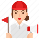 avatar, female, guide, job, occupation, profession, tour guide icon