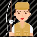 avatar, fisher, fisherman, job, male, occupation, profession icon