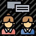 conversation, dialogue, talk, text icon
