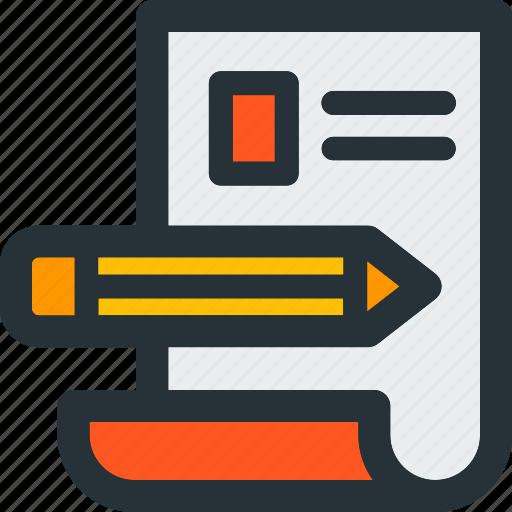 job, make, paper, pencil, resume, tool, work icon