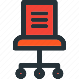 chair, desk, furniture, job, office, work icon