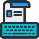 document, keyboard, page, paper, resume, sheet, type icon